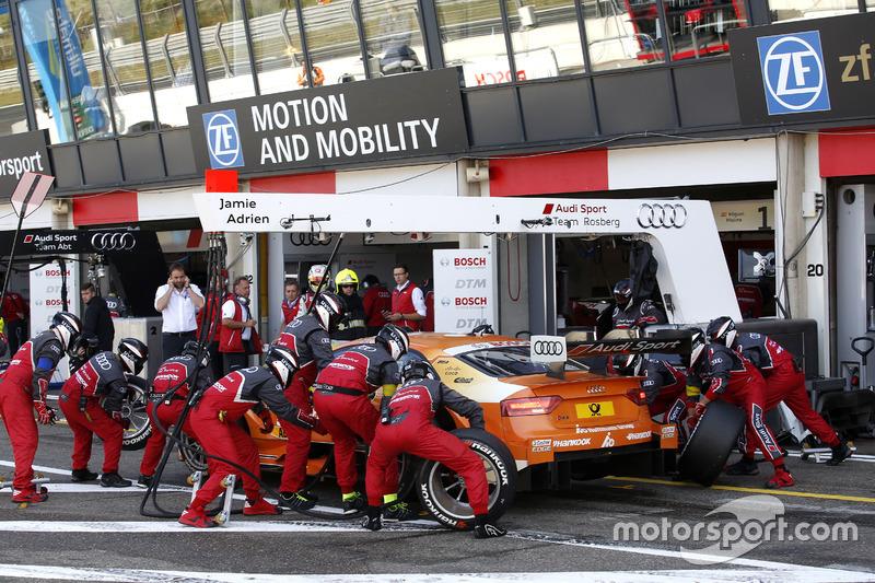 Pit stop Jamie Green, Audi Sport Team Rosberg, Audi RS 5 DTM