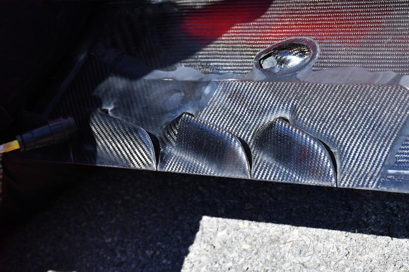 Ferrari SF70H: Unterboden vor der Hinterachse