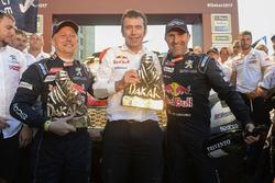 Stéphane Peterhansel, Jean-Paul Cottret, Bruno Famin, Peugeot Sport
