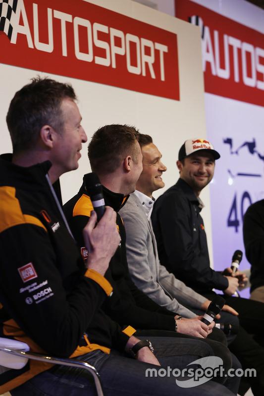 Matt Neal, Gordon Shedden, Colin Turkington y Andrew Jordan