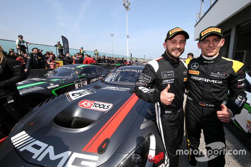 I vincitori della gara #84 Mercedes-AMG Team HTP Motorsport, Mercedes-AMG GT3: Maximilian Buhk, Franck Perera