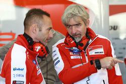 Cristian Gabarrini, Ducati Team crew chief, Gigi Dall'Igna, Ducati Team General Manager