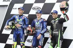 Qualifying top three: polesitter Maverick Viñales, Yamaha Factory Racing, second place Valentino Ros