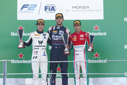 Podium: Luca Ghiotto, RUSSIAN TIME, Sergio Sette Camara, MP Motorsport, Antonio Fuoco, PREMA Powerteam