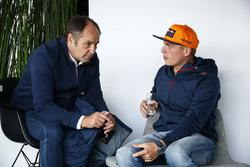 Gerhard Berger, ITR Chairman en Max Verstappen, Red Bull Racing