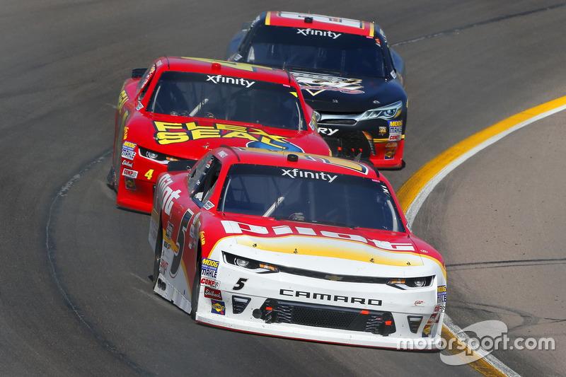 Michael Annett, JR Motorsports, Chevrolet; Ross Chastain, JD Motorsports, Chevrolet