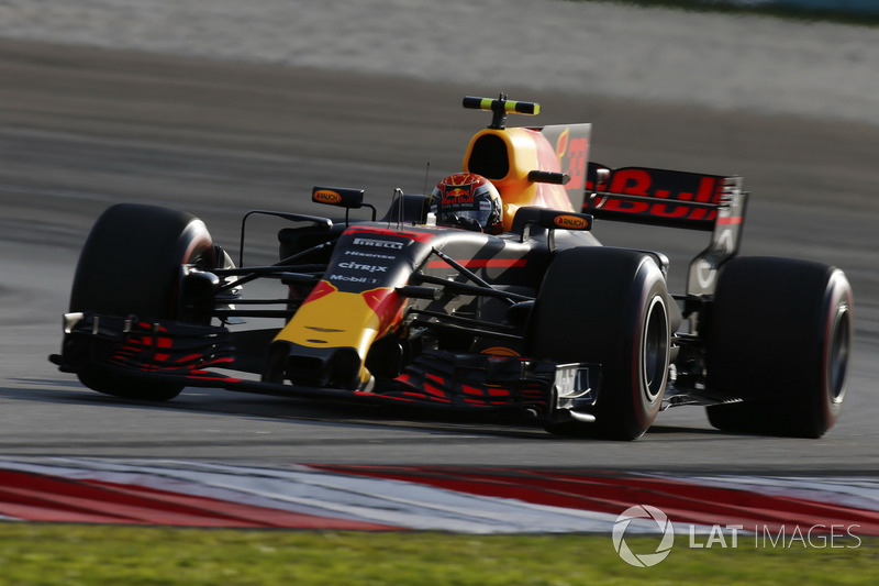 Max Verstappen, Red Bull Racing RB13.   Max Verstappen, Red Bull Racing RB13