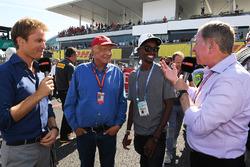 Nico Rosberg, Mercedes-Benz Ambassador, Niki Lauda, Mercedes AMG F1 Non-Executive Chairman, Mo Farah