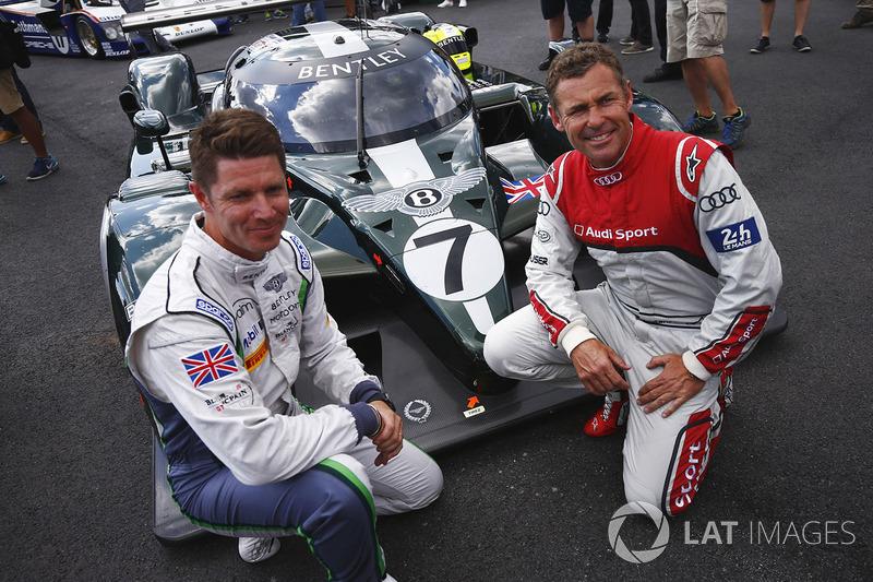 Гай Сміт, Том Крістенсен та Bentley Speed 8 LMP1, на якому вони виграли Ле-Ман у 2003 році