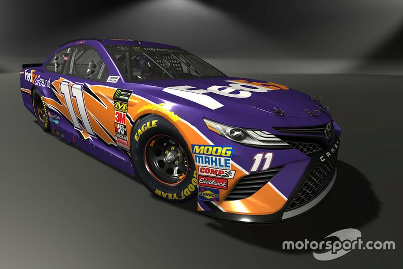 Denny Hamlin, Joe Gibbs Racing, Toyota Camry - NASCAR Heat 3 skin