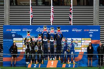 Podio: i vincitori #22 United Autosports Ligier JSP217 - Gibson: Phil Hanson, Filipe Albuquerque