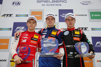 Rookie Podium: Winner Robert Shwartzman, PREMA Theodore Racing Dallara F317 - Mercedes-Benz, second place Marcus Armstrong, PREMA Theodore Racing Dallara F317 - Mercedes-Benz, third place Jüri Vips, Motopark Dallara F317 - Volkswagen
