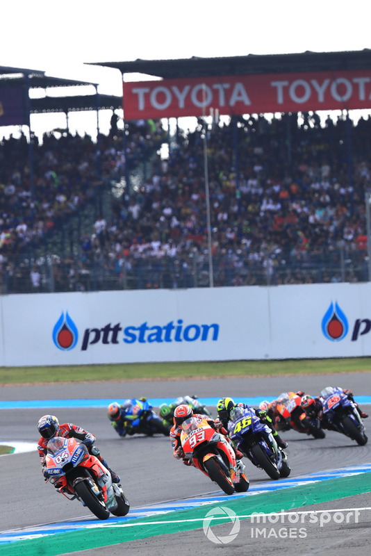 Андреа Довіціозо, Ducati Team, Марк Маркес, Repsol Honda Team, Валентино Россі, Yamaha Factory Racing