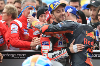 Race winner Andrea Dovizioso, Ducati Team, third place Pol Espargaro, Red Bull KTM Factory Racing