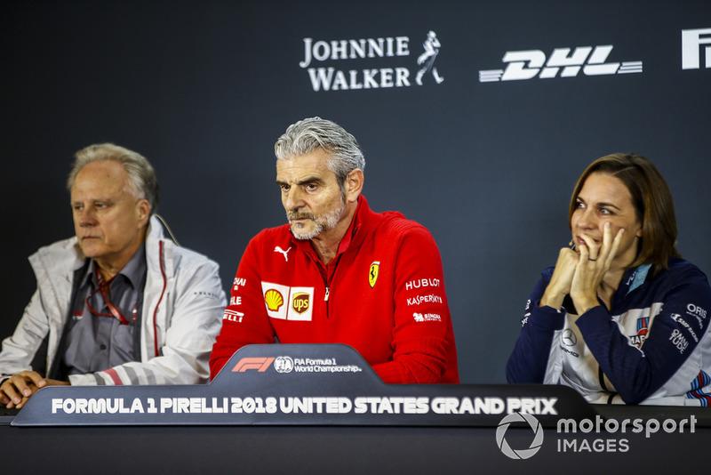 Засновник і власник Haas F1 Team Джин Хаас, керівник Ferrari Мауріціо Аррівабене, заступник керівника Williams Клер Вільямс