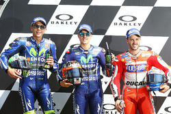 Valentino Rossi, Yamaha Factory Racing, Maverick Viñales, Yamaha Factory Racing, Andrea Dovizioso, Ducati Team after qualifying