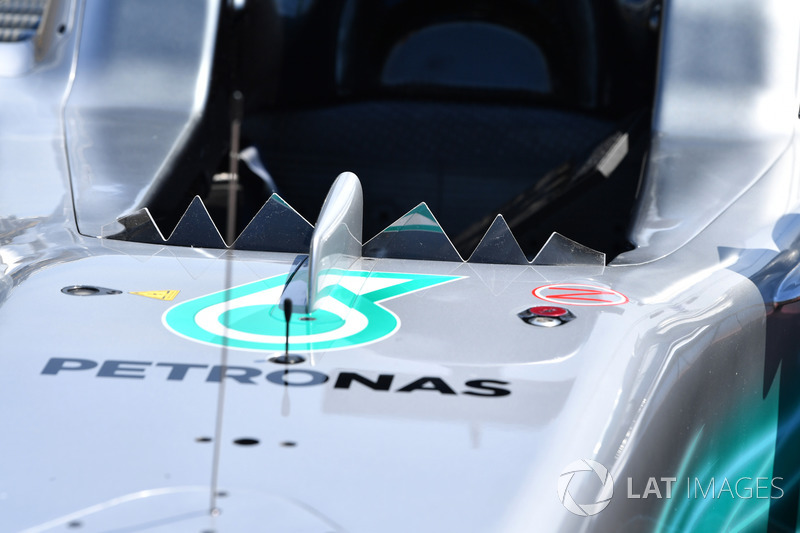 Mercedes-Benz F1 W08 windscreen detail