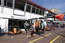 Garage of Jenson Button, McLaren