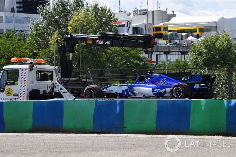 Unfallauto von Pascal Wehrlein, Sauber C36