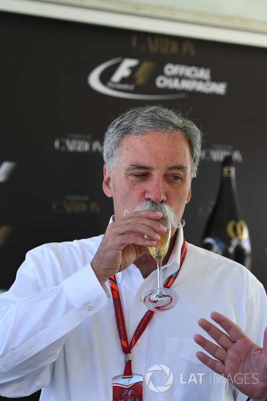 Chase Carey, Director Ejecutivo y Presidente Ejecutivo de la Formula One Group en la Carbon Champagn