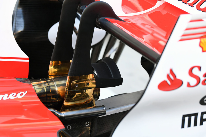 Ferrari SF70H exhaust detail