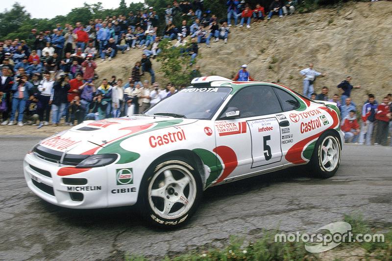 Didier Auriol sur une Toyota Celica Turbo 4WD lors du Tour de Corse 1994