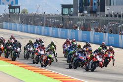 Start zum GP Aragon 2017: Jorge Lorenzo, Ducati Team, führt