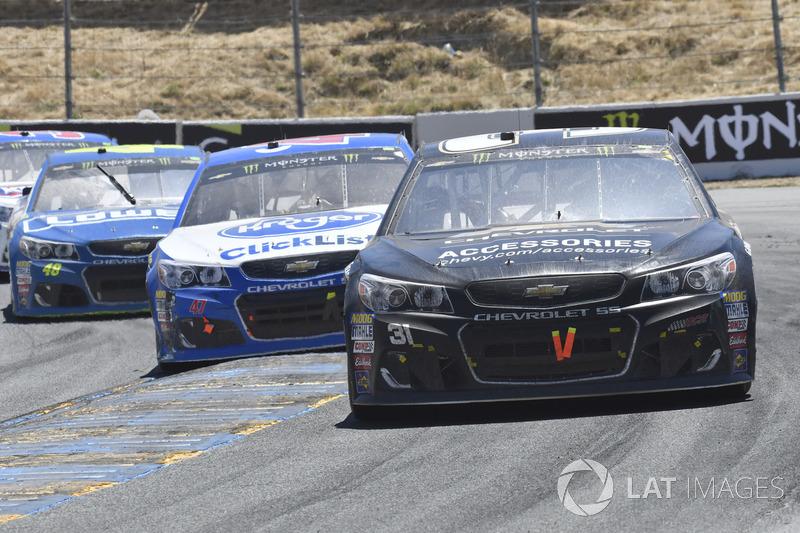 Ryan Newman, Richard Childress Racing Chevrolet, A.J. Allmendinger, JTG Daugherty Racing Chevrolet,