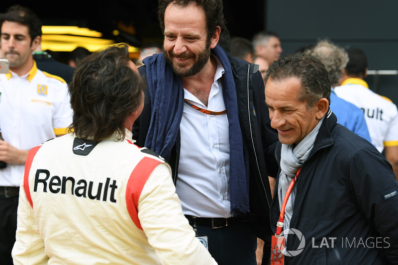 Matteo Bonciani, Delegado de medios de comunicación de la FIA y René Arnoux