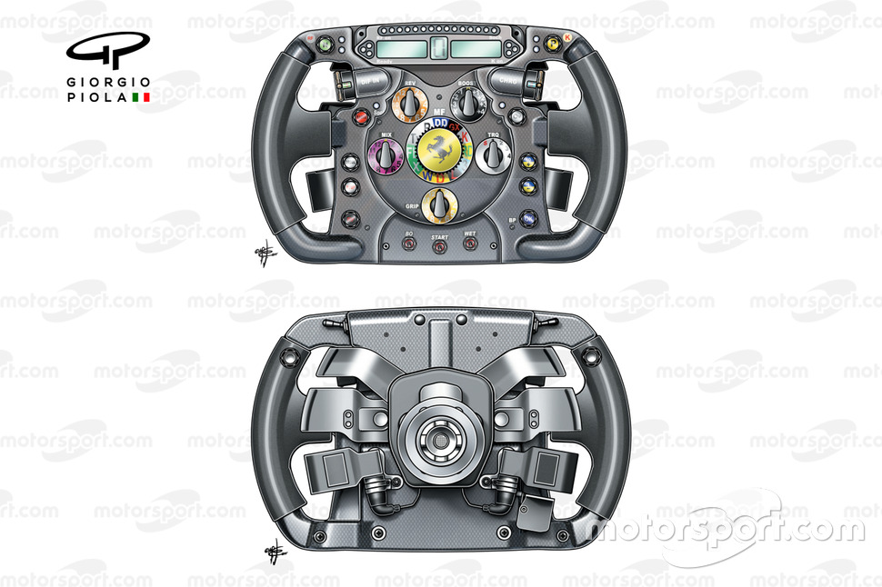 Ferrari F10 steering wheel