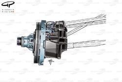 Force India VJM09 front brake duct detail (internal ducting)