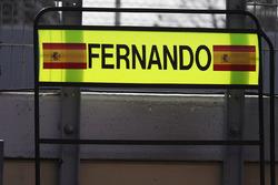 Pit board for Fernando Alonso, McLaren