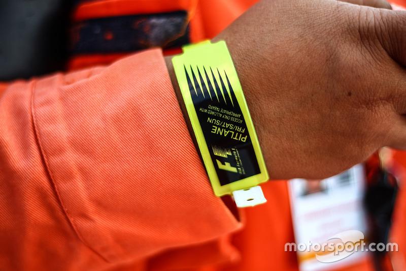 F1 wrist band