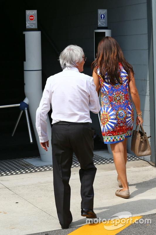 Bernie Ecclestone, with wife Fabiana Flosi