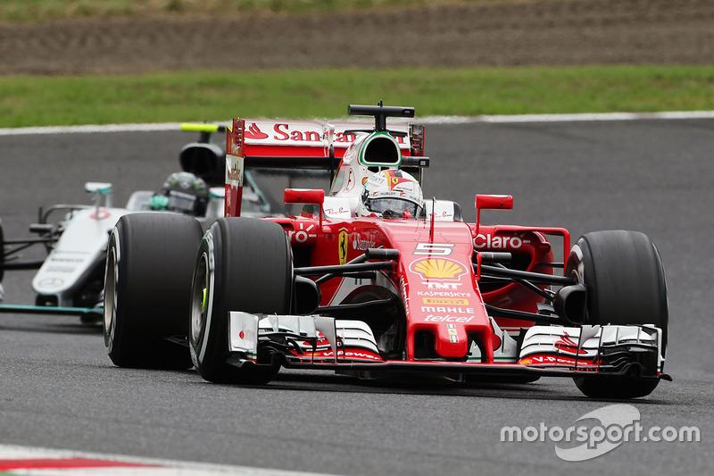 6: Sebastian Vettel, Ferrari SF16-H (3 posiciones de sanción incluidas)