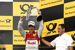 Podium: third place Miguel Molina Audi Sport Team Abt Sportsline, Audi RS 5 DTM with Hans-Jurgen Abt, Team  principal Abt-Audi