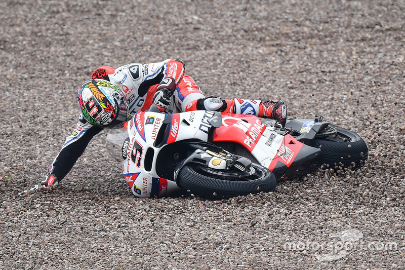 Danilo Petrucci, Pramac Racing crash