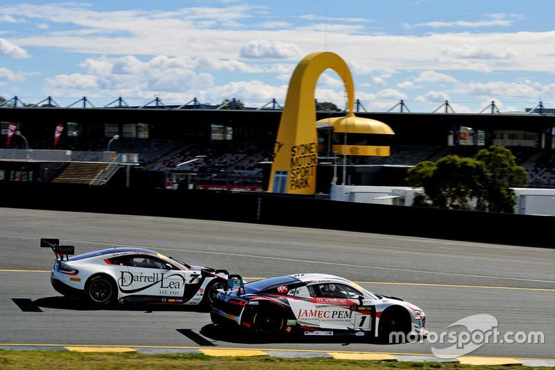 #1 JAMEC PEM, Audi R8 LMS: Miguel Molina, Tony Bates; #7 Darrell Lea, Aston Martin Vantage GT3: Tony Quinn, Hayden Cooper