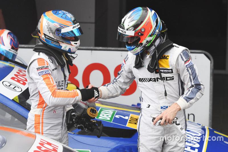 Robert Wickens, Mercedes-AMG Team HWA, Mercedes-AMG C63 DTM e Paul Di Resta, Mercedes-AMG Team HWA, Mercedes-AMG C63 DTM