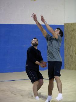 Bruno Spengler and Timo Glock, Indoor Beachvolleyball