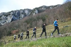 Joel Eriksson, Bruno Spengler, Marco Wittmann, Philipp Eng and Augusto Farfus, Hiking