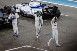 Valtteri Bottas, Mercedes AMG F1, Lewis Hamilton, Mercedes AMG F1 e Felipe Massa, Williams festeggiano nel parco chiuso