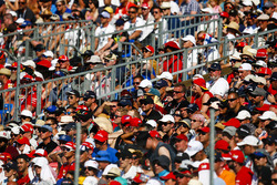 Fans pack the grandstands