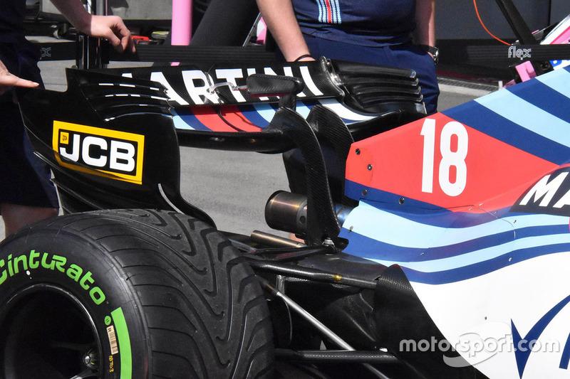 Williams FW41 arka kanat detay