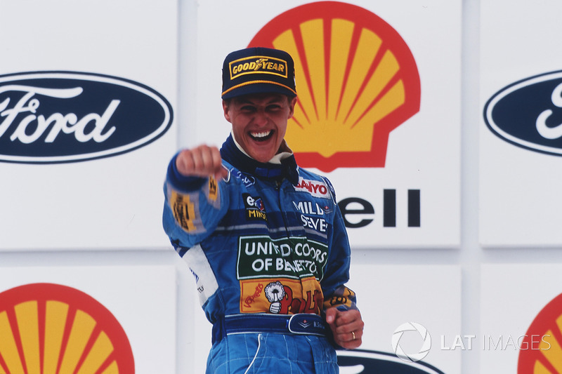 Podyum: Yarış galibi Michael Schumacher, Benetton