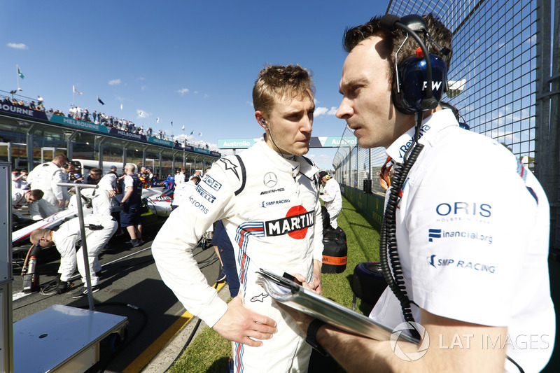 Sergey Sirotkin, Williams Racing, en la parrilla
