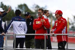 Sebastian Vettel, Ferrari, and Kimi Raikkonen, Ferrari