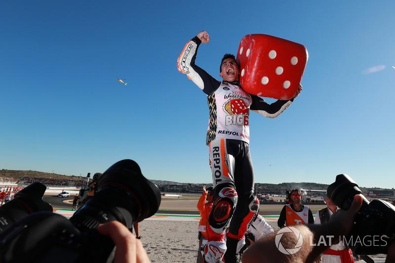 Le Champion du monde Marc Marquez, Repsol Honda Team fête son titre