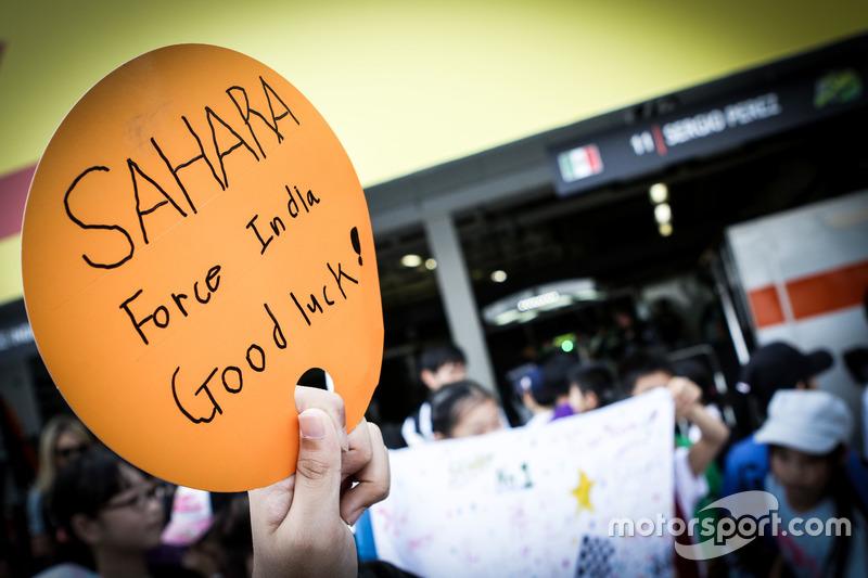 Fans vom Sahara Force India F1 Team