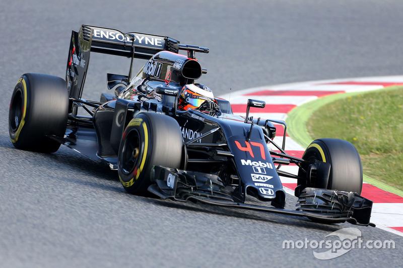 Stoffel Vandoorne, McLaren MP4-31 Piloto de prueba y de Reserva